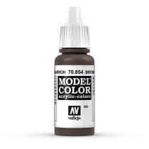 Vallejo 70854 Brown Glaze - 17 ml (Model Color) (204)