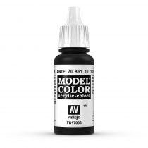 Vallejo 70861 Glossy Black - 17 ml (Model Color) (170)