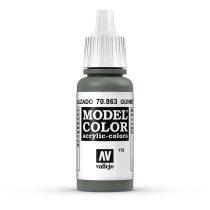 Vallejo 70863 Gunmetal Grey - 17 ml (Model Color) (179)