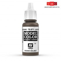 Vallejo 70871 Leather Brown - 17 ml (Model Color) (147)