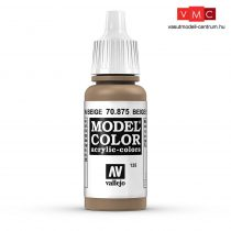 Vallejo 70875 Beige Brown - 17 ml (Model Color) (135)