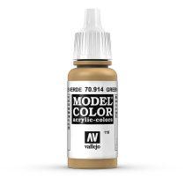 Vallejo 70914 Green Ochre - 17 ml (Model Color) (119)