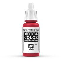 Vallejo 70934 Transparent Red - 17 ml (Model Color) (186)