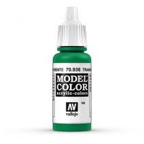 Vallejo 70936 Transparent Green - 17 ml (Model Color) (188)