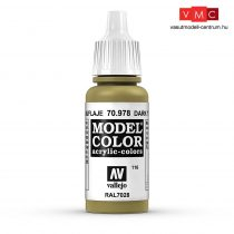 Vallejo 70978 Dark Yellow - 17 ml (Model Color) (116)