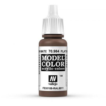 Vallejo 70984 Flat Brown - 17 ml (Model Color) (140)