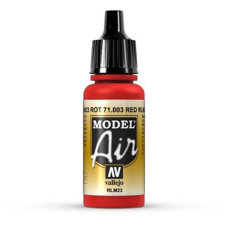 Vallejo 71003 Scarlet Red, 17 ml (Model Air)