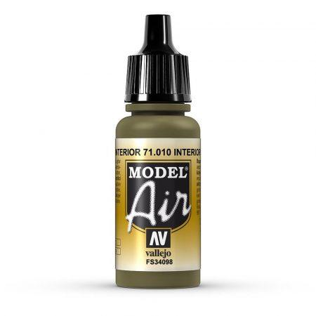Vallejo 71010 Interior Green, 17 ml (Model Air)