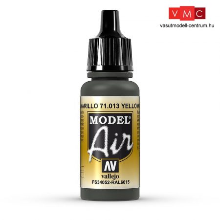 Vallejo 71013 Yellow Olive, 17 ml (Model Air)