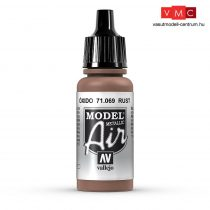 Vallejo 71069 Rust, Metallic, 17 ml (Model Air)