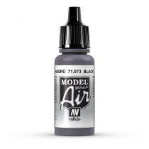 Vallejo 71073 Black, Metallic, 17 ml (Model Air)