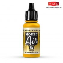Vallejo 71078 Gold Yellow, 17 ml (Model Air)