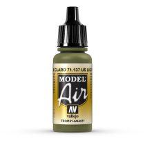 Vallejo 71137 US Light Green, 17 ml (Model Air)