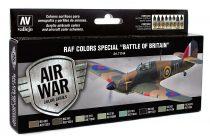 Vallejo 71144 Model Air Paint Set - RAF Colors Special Battle of Britain (8 x 17ml)