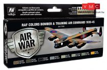 Vallejo 71145 Model Air Paint Set - RAF Colors Bomber & Training Air Command 1939-45 (8 x 17ml)