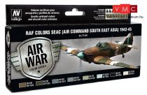 Vallejo 71146 Model Air Paint Set - RAF Colors SEAC (Air Command South East Asia) 1942-45 (8 x