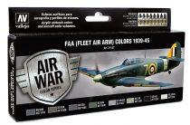 Vallejo 71147 Model Air Paint Set - RAF & FAA (Fleet Air Arm) Colors 1939-45 (8 x 17ml)
