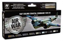 Vallejo 71148 Model Air Paint Set - RAF Colors Coastal Command 1939-45 (8 x 17ml)