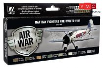 Vallejo 71149 Model Air Paint Set - RAF Colors Day Fighters Pre-War to 1941 (8 x 17ml)