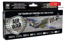 Vallejo 71162 Model Air Paint Set - RAF Colors Day Fighters 1941-1945 & P.R.U. (8 x 17ml)