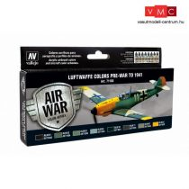 Vallejo 71165 Model Air Paint Set - Luftwaffe Colors Pre-War to 1941 (8 x 17ml)