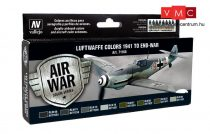 Vallejo 71166 Model Air Paint Set - Luftwaffe Colors 1941 to End War (8 x 17ml)