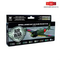 Vallejo 71169 Model Air Paint Set - Imperial Japanese Navy Colors Pre-War to 1945 (8 x 17ml)