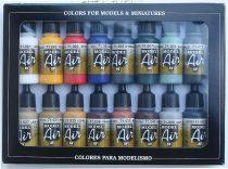 Vallejo 71178 Model Air Paint Set - Basic Colors (16 x 17ml)