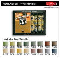 Vallejo 71179 Model Air Paint Set - WWII German Colors Set (16 x 17ml)