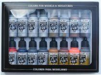 Vallejo 71181 Model Air Paint Set - Metallic Colors (16 x 17ml)