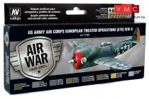 Vallejo 71182 Model Air Paint Set - US Army Air Corps European Theater Operations (8 x 17ml)