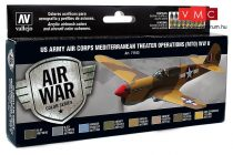 Vallejo 71183 Model Air Paint Set - US Army Air Corps Mediterranean Theater Operations (8 x 17m