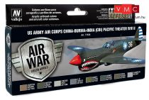 Vallejo 71184 Model Air Paint Set - US Army Air Corps China-Burma-India Pacific Theater (8 x 17
