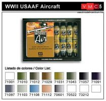 Vallejo 71185 Model Air Paint Set - WWII USAAF Model Air Paint Set (16 x 17ml)