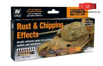 Vallejo 71186 Model Air Paint Set - Rust & Chipping Effects Model Air Paint Set (8 x 17 ml)