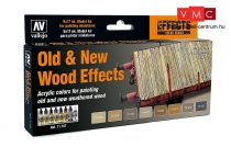 Vallejo 71187 Model Air Paint Set - Old & New Wood Effects (8 x 17ml)