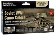 Vallejo 71188 Model Air Paint Set - Soviet AFC WWII Camo Colors (8 x 17ml)