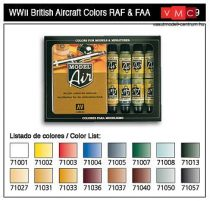 Vallejo 71189 Model Air Paint Set - WWII British Aircraft (16 x 17ml)