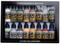 Vallejo 71191 Model Air Paint Set - Railway Colors Europe (16 x 17ml)