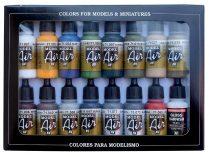 Vallejo 71192 Model Air Paint Set - Building Colors (16 x 17ml)