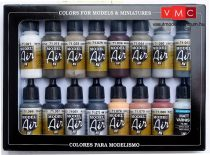 Vallejo 71194 Model Air Paint Set - Weathering Colors (16 x 17ml)