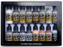 Vallejo 71194 Model Air Paint Set - Weathering Colors (16 x 17ml)