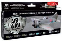 Vallejo 71196 Model Air Paint Set - Soviet Air Force VVS Pre-War to 1941 Great Patriotic War (8