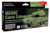 Vallejo 71202 Model Air Paint Set - MERDC Camo Colors (8 x 17ml)