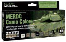 Vallejo 71202 Model Air Paint Set - MERDC Camo Colors (8 x 17ml)