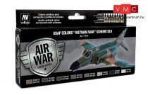Vallejo 71204 Model Air Paint Set - USAF Colors Vietnam War Scheme SEA (8 x 17ml)