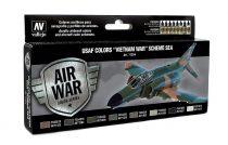 Vallejo 71204 Model Air Paint Set - USAF Colors Vietnam War Scheme SEA (8 x 17ml)