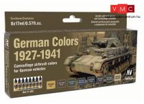 Vallejo 71205 Model Air Paint Set - German Colors 1927-1941 (8 x 17ml)