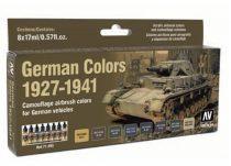 Vallejo 71205 Model Air Paint Set - German Colors 1927-1941 (8 x 17ml)