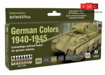 Vallejo 71206 Model Air Paint Set - German Colors 1940-1945 (8 x 17ml)